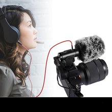 MIC-02/MIC-06/MIC-07/MIC-07 Pro 3.5mm Mobile Phone/Camera Microphone Video Recording Super-cardioid Pointing Stereo Mic 2019