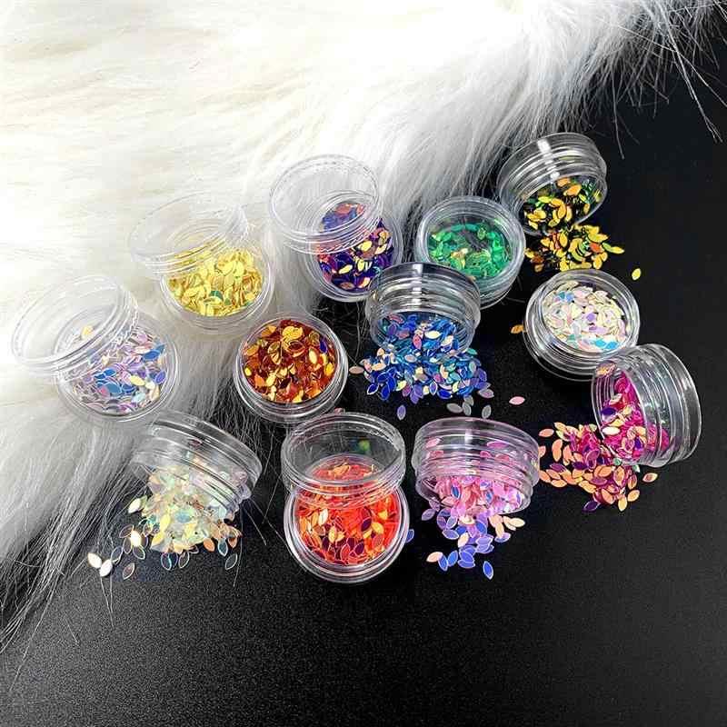 12 butelek biżuteria z żywicy wypełnienia płaskie okrągłe pcv luźne cekiny dla rzemiosła cekinowa dekoracja do szycia epoksydowa dla majsterkowiczów akcesoria