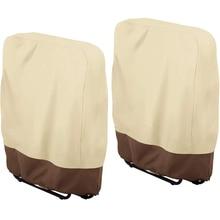 2PCSOutdoor Folding Reclining Chair Cover 190T Waterproof Veranda Zero Gravity Outdoor Folding Chairs Cover Garden Sunbed