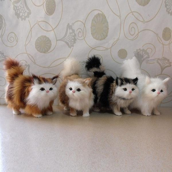 Kuulee Crafts Simulation Animal Simulation Cute Cat Car Ornaments Gifts Home Accessories