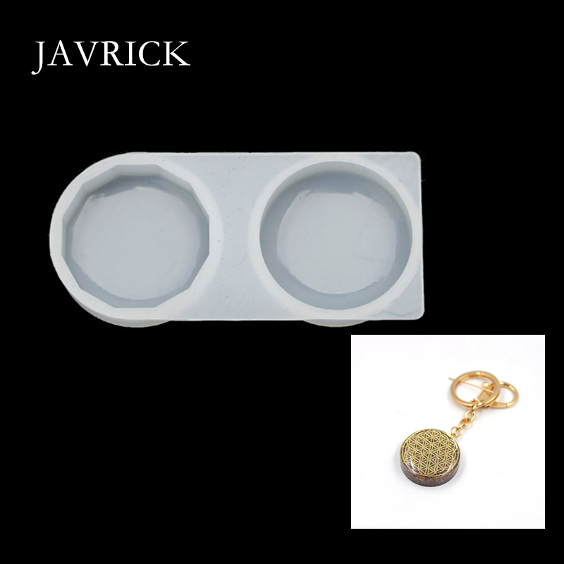Faceted Organ Round Pendant Silicone Mold Resin Keychain DIY Pendant Keychain Accessories Jewelry Making Tools