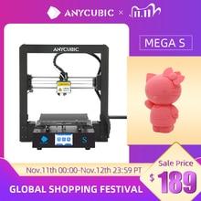طابعة ANYCUBIC Mega S Mega S ثلاثية الأبعاد I3 Mega ترقية كبيرة الحجم تي بي يو عالية الدقة تعمل باللمس لتقوم بها بنفسك ثلاثية الأبعاد مجموعة الطابعة impressora ثلاثية الأبعاد