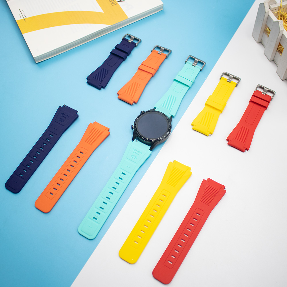 22mm <font><b>Silicone</b></font> Watch Strap For Huami Amazfit GTR 47mm GTS Smart <font><b>20mm</b></font> Watch <font><b>Band</b></font> For Amazfit Bip Lite Pace Stratos Watch <font><b>Bracelet</b></font> image
