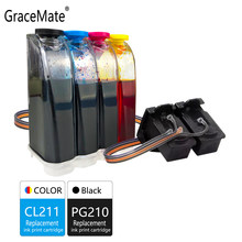 Gracemate Kompatibel untuk Canon PG210 CL211 CISS Bulk Ink untuk IP2700 IP2702 MP240 MP250 MP260 MP270 MP280 MP480 MP490 Printer(China)