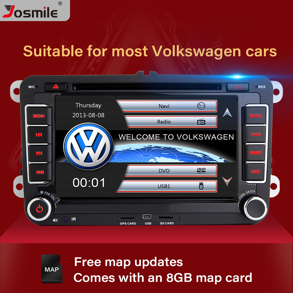 Josmile 2 Din Car DVD Player For <font><b>VW</b></font> Volkswagen Passat b6 b7 Skoda Octavia Superb 2 T5 <font><b>Golf</b></font> 5 Polo Seat leon Radio GPS Navigation image