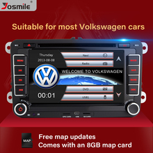 Josmile reproductor DVD coche 2 DIN para VW Volkswagen Passat b6 b7 Skoda Octavia superb 2 T5 Golf 5 Polo Seat leon Radio GPS de navegación