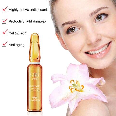7PCS Pigment Zero Niacinamide Ampoule dark spots bright blisters Freckle face Skin Care Pore Minimizer Whitening serum TSLM1 Lahore