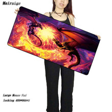 Mairuige Shop Dragon Free Shipping Locking Edge Large Gaming Mouse Pad Mats for PC Computer