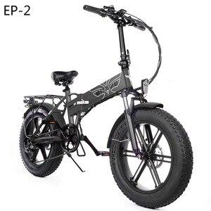 (EU Stock)Electric bike 48V12.5A electric Bicycle 20*4.0inch 500W Powerful Motor 39km/h 7speeds Mountain/Snow bike Full throttle