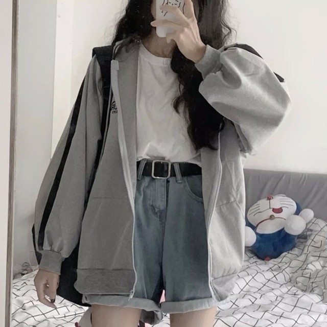 35# Fashion Outwear Woman Jacket Cardigan Splicing Hooded Top Long Sleeve Winter Plus Size Loose Coat женская куртка 2