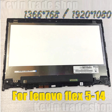 Original Für Lenovo Flex 5-14 5-1470 5 1470 80XA 81C9 LED LCD Touch Screen Digitizer + lünette Montage NT140WHM-N44 B140HAN 04,2