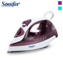 1600W المحمولة مصغرة الكهربائية آلة تنظيف الملابس بالبخار البخار الحديد للملابس الحديد قابل للتعديل السيراميك Soleplate الحديد الكي Sonifer