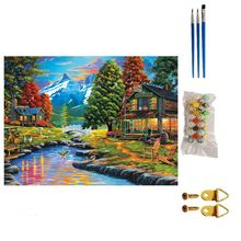 Adult Children Digital Oil Painting DIY Modern Frameless Scenery Pure Hand-painted Flowers Home Decoration