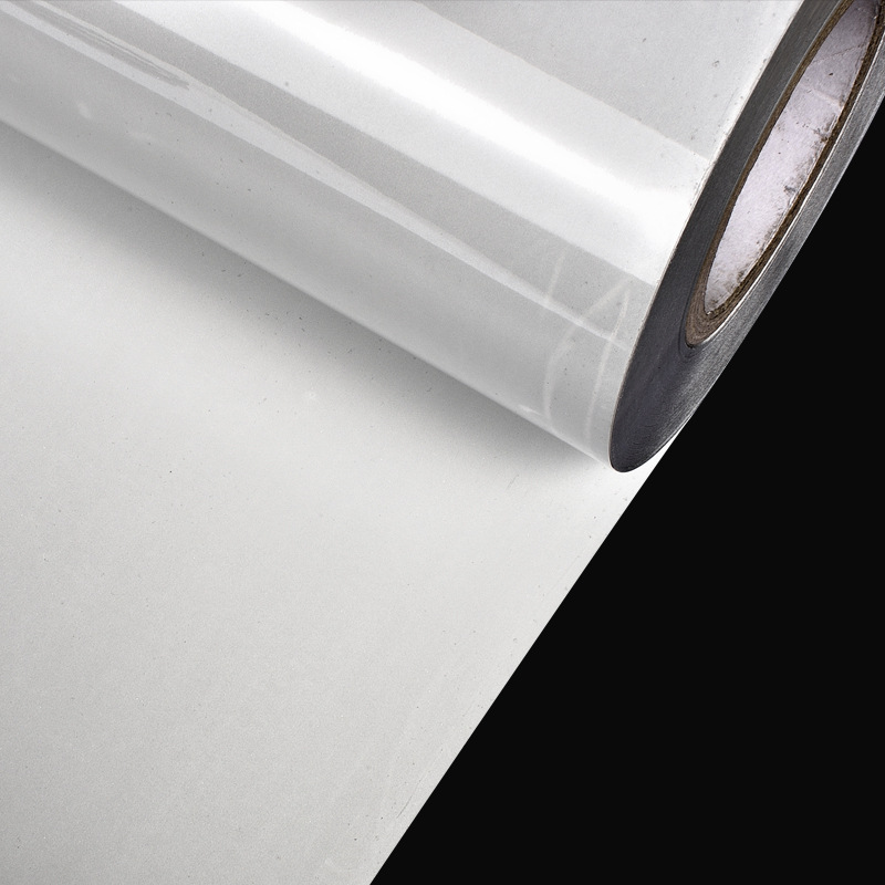 Highlight Silver Reflective Transfer Film Clothing Wire Screen Printed White Colorful Reflective Plant Beads Film Dongguan Manuf