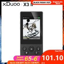 Xduoo X3II X3 ii AK4490 usb dac bluetoothポータブルhdロスレスMP3/wav/flacの音楽プレーヤーDSD128 hibyリンクラインコントロール