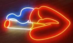 Стеклянный неоновый светильник на заказ для курения губ, пивной бар
