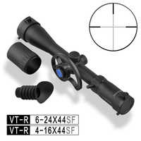 Riflescope 4-16 X44 Discovery Scopes with New Side Parallax Wheel for PCP Air Rifle Gun Good Glasses Clear Sight Side Focus