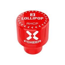 Foxeer – antenne FPV rouge Omni mâle pour Drone de course RC, pièces de rechange, 5.8GHz, 2,5 dbi RHCP/LHCP, 2 pièces