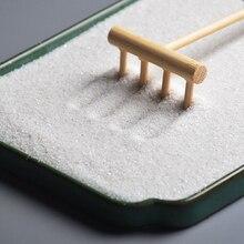 10 stücke Tee-Set Ornament Bambus Snad Rechen Spielzeug Handwerk Tisch Zubehör Holz Dekoration Mini Pinzette