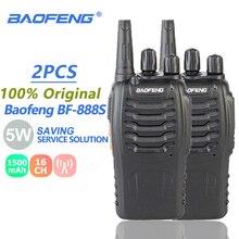 2Pcs Baofeng BF-888S Walkie Talkie 5W UHF SMA-F Radio Transmitter BF888S BF 888S 888S Comunicador Transceiver Ham Radio Station