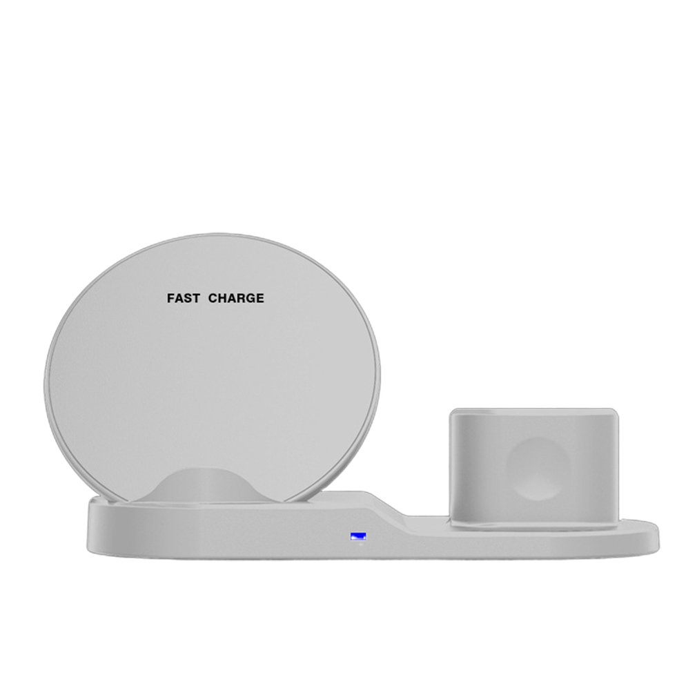 Multi Function Three In One Fast Wireless Charger Mobile Phone Watch Headset Wireless Charging Bracket|Battery Accessories| |  - title=
