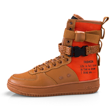 2019 couple models autumn air force 1 Female men shoes Mid-clip buckle fashion boots man ultra boosts sneakers bigs size 46
