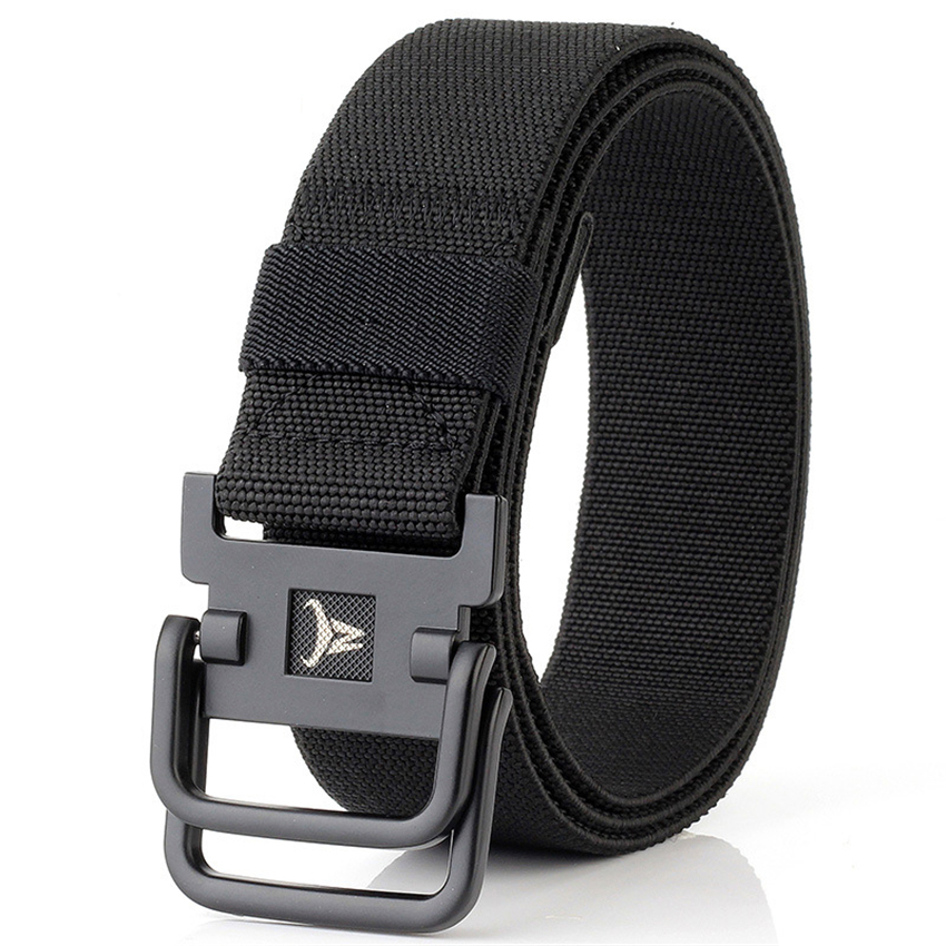 Army Belt Men Combat Tactical Designer Belts For Jeans Pants 2 Ring Buckles Solid Casual Nylon Strap Canvas Waist Belt Men Gift
