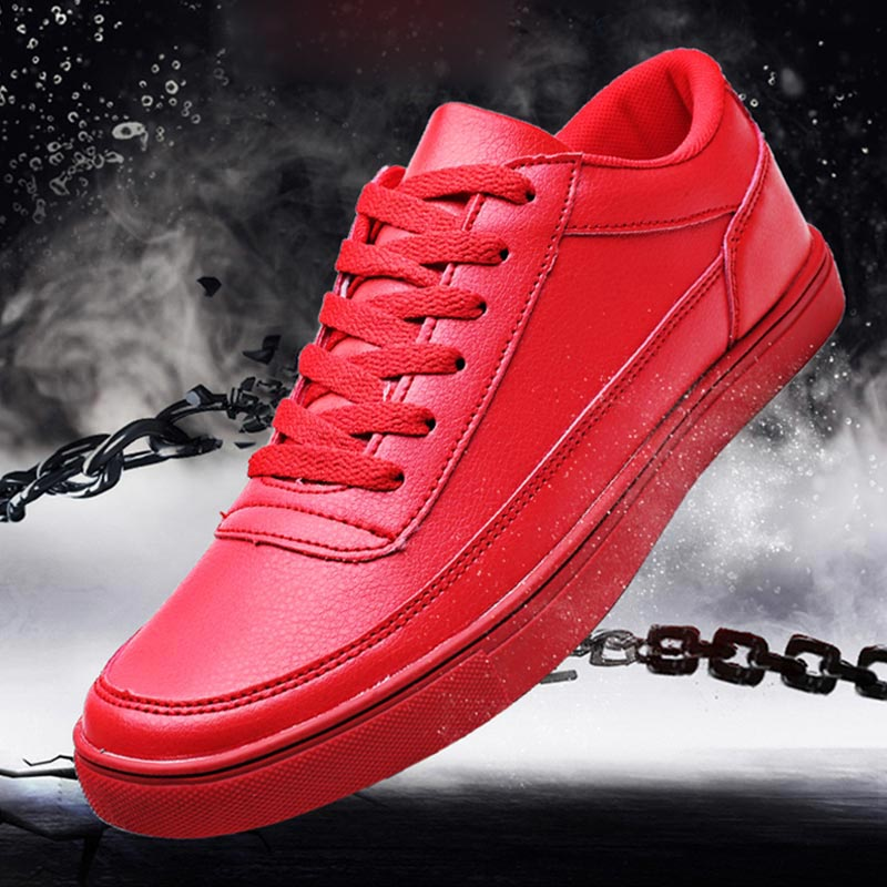 PU Leather Sneakers Mens Autumn Basket Running Man Shoes Sport Red Mens Shoes Sports Shoes Athletic Trainers Training Walk A-369