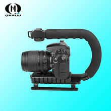купить C Shaped Holder Grip Video Handheld Stabilizer for DSLR Nikon Canon Sony Camera and Light Portable SLR Steadicam for Gopro по цене 1173.01 рублей