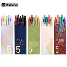 KACO pisak do kaligrafii długopis żelowy 0.5mm napełnianie Smooth Ink Writing trwałe pióro do podpisywania 5 kolorów Vintage kolor Macarons długopisy zestaw upominkowy