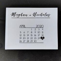 Biała księga gości weselnych unikalny kalendarz dekoracje ślubne księga gości weselnych Album niestandardowy księga gości pomysł książka 8.5x8.5inch