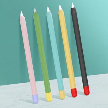 Dla Apple Pencil 1 2 silikonowy rysik pojemnościowy pokrowiec ochronny na Apple Pencil 1 2 pokrowiec ochronny tanie i dobre opinie NONE CN (pochodzenie) Ekran pojemnościowy TABLETY LAPTOPY 14cm Silicon
