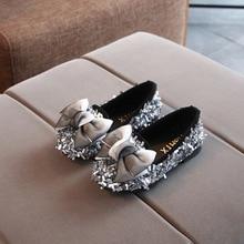 Girls Shoes Sequins Toddler Kids Children Bowknot Fashion for New Flower-Bling