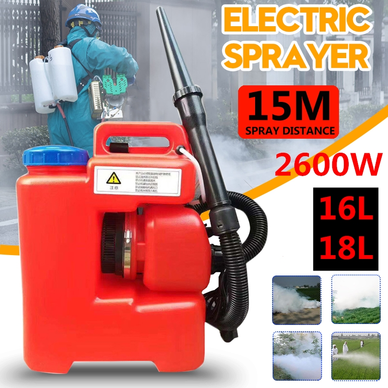 110V/220V 16/18L 2600W Electric Sprayer ULV Fogger Cold Machine Disinfection Mosquito Killer Portable Sprayer Santizer EU US