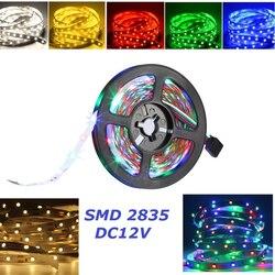Для детей от 1 года до 5 лет м светодиодный полосы светильник 2835 SMD IP20 Non-Водонепроницаемый DC 12V RGB светодиодный светильник гибкий в полоску, ук...
