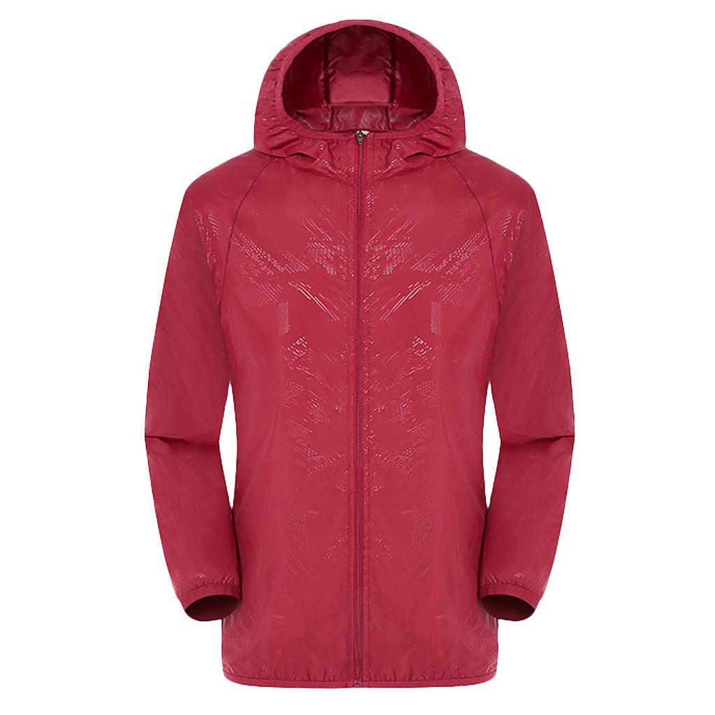 Мужские и женские повседневные куртки с капюшоном ветрозащитная Ультралегкая непромокаемая ветровка пальто дождевик уличная велосипедная куртка