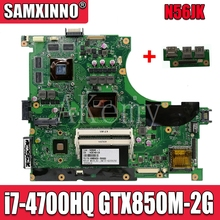цена на Send board +N56JK Motherboard i7-4700HQ GTX850M-2G For ASUS N56J G56J G56JK laptop Motherboard N56JK Mainboard N56JK main board