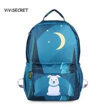 ViViSECRET New Childrens School Bag Cartoon Animal Pattern Student Backpack 2-6 Grade Cute Kids Waterproof Primary