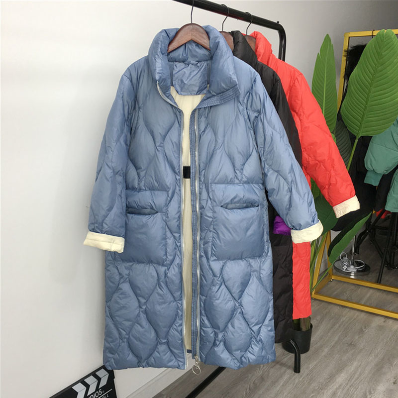 Winter Jackets Women 2019 New Women Down Coat Windproof White Duck Down Jacket Women's Long Down Parka Female Woman Winter Coat