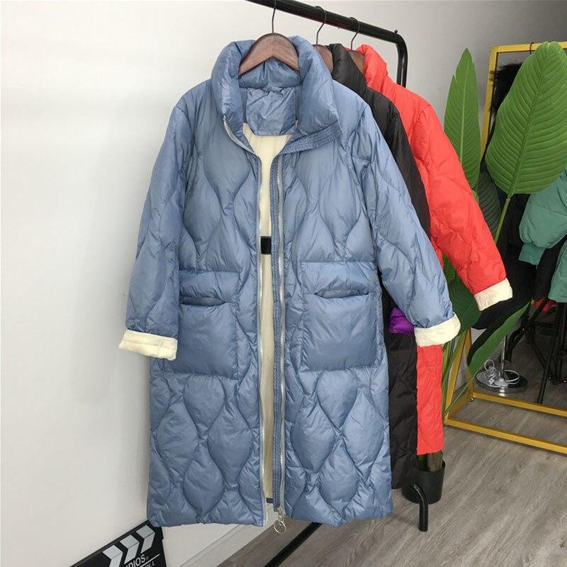 Winter Jackets Women 2019 New Women   Down     Coat   Windproof White Duck   Down   Jacket Women's Long   Down   Parka Female Woman Winter   Coat
