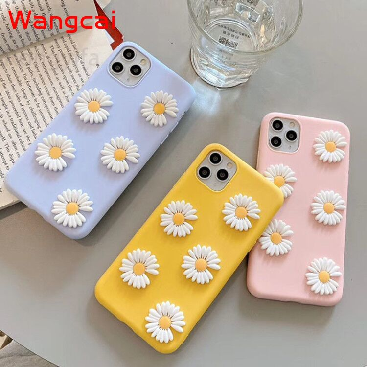 Real Flowers Soft TPU Back Cover For Xiaomi Mi 10 CC9 Note 10 9T 9 Pro CC9E A3 A2 Lite Max 3 Case Little Daisies Flower Cover