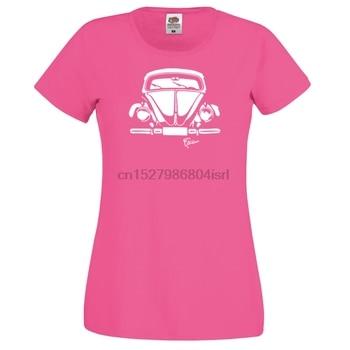 Bayan sağlıklı tişört-Kfer Frontal-hava soğutmalı Oldschool VDub Typ1 otobüs ve böcek