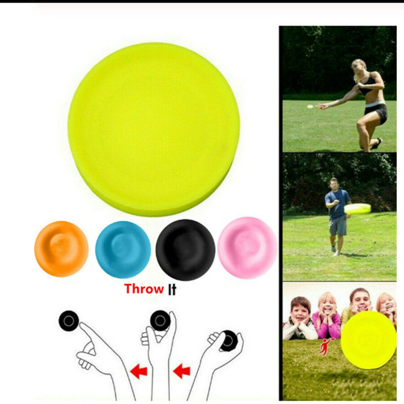 Mini Creative Frisbee Parent-child Interactive Sports Circular Silicone Disc Game Outdoor Sports Flying Saucer Fingertip Top Toy