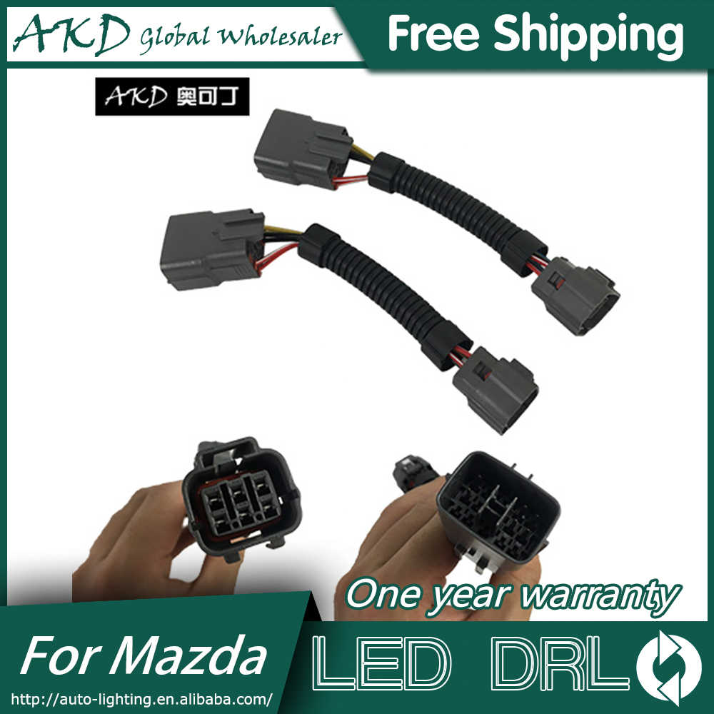 Akd Auto Styling Hoofd Lamp Adapter Voor Mazda 6 Mazda6 Atenza Koplampen Led Koplamp Plug En Play Draad Connector