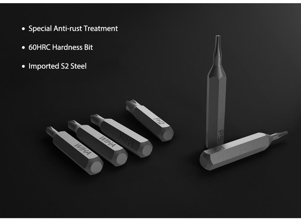 Original Xiaomi Mijia Wiha 24 in 1 Precision Screw Driver Kit 60HRC Magnetic Bits Xiaomi Home Kit Repair Tools Xiomi Xaomi (6)