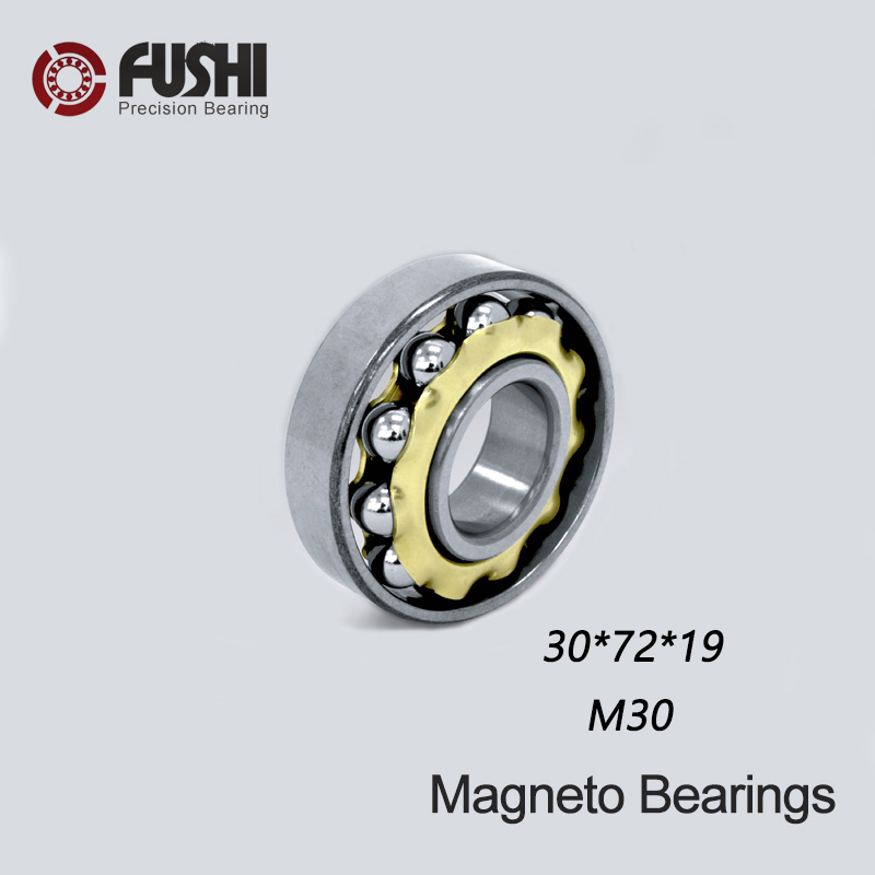 M30 Magneto Bearing 30*72*19 mm ( 1 PC ) Angular Contact Separate Permanent Motor Ball Bearings