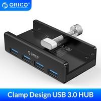 HUB USB 3.0 ORICO alimentato con ricarica Multi 4 porte Clip da scrivania adattatore Splitter USB lettore di schede SD per PC accessori per Computer