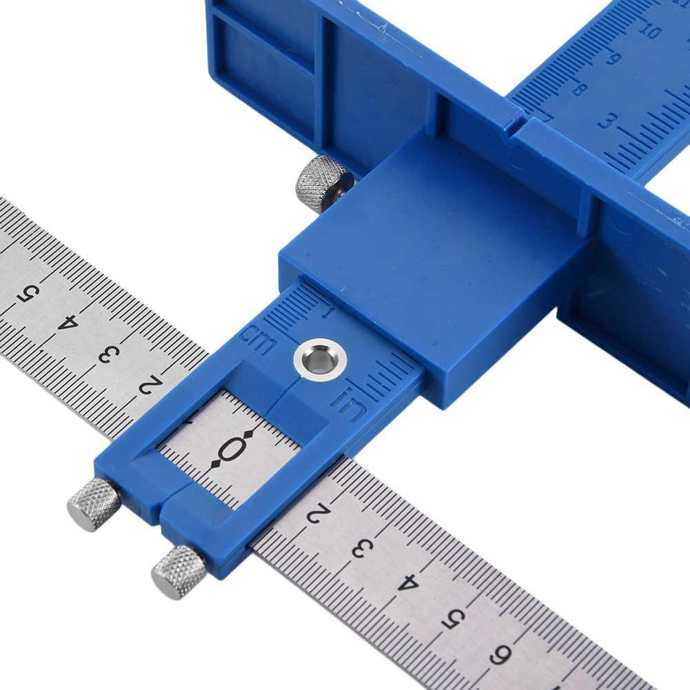 Houtbewerking Joinery Hand Tool Multifunctionele Boor Punch Locator Verstelbare Boren Dowelling Hole Saw Locator Dropship