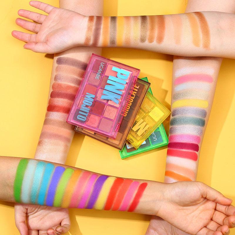 15 cores paleta de sombra perolado brilho