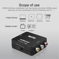 Kebidu HDMI-compatible to RCA Converter AV/CVSB L/R Video Box HD 1080P 1920*1080 60Hz HDMI2AV Support NTSC PAL Output HDMIToAV 2